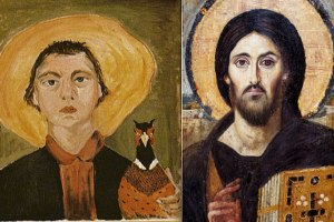 flannery_oconnor_painting Christ Pantocrator