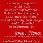 FOC ART NOT DEMOCRATIC