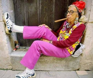 Old Lady w Cigar