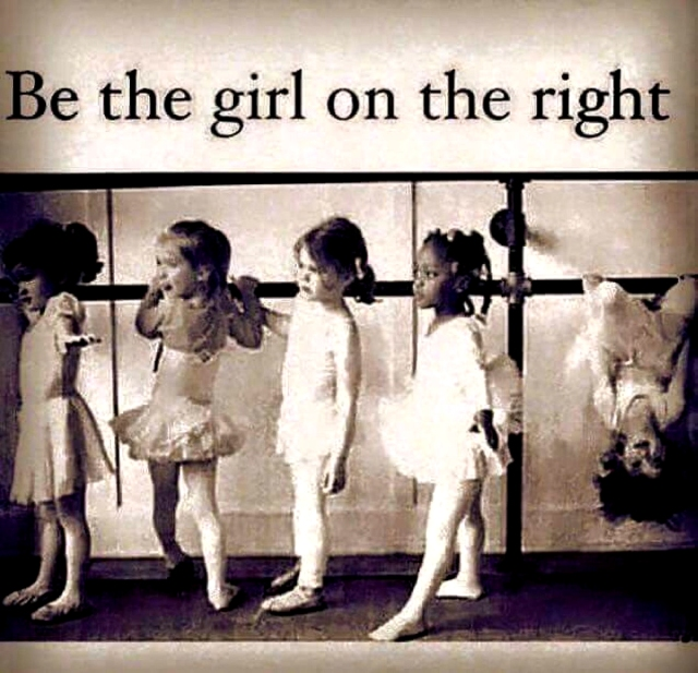 BE THEGIRL ON THE RIGHT copy